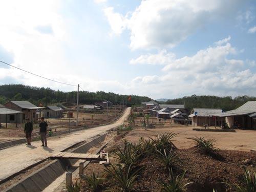 Một góc khu tái định cư Xóm Mới Ảnh: Hà Phong