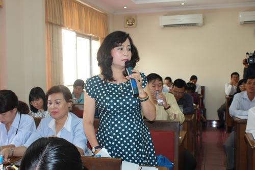 Cán bộ Công đoàn đóng góp ý kiến tại hội nghịẢnh: THANH NGA