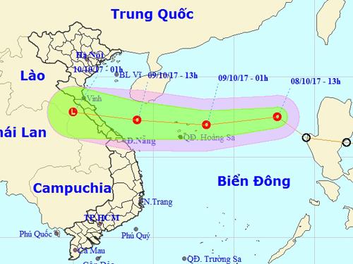 """Áp thấp nhiệt đới lao """"phi mã"""", miền Trung đối mặt mưa lớn - Ảnh 1."""