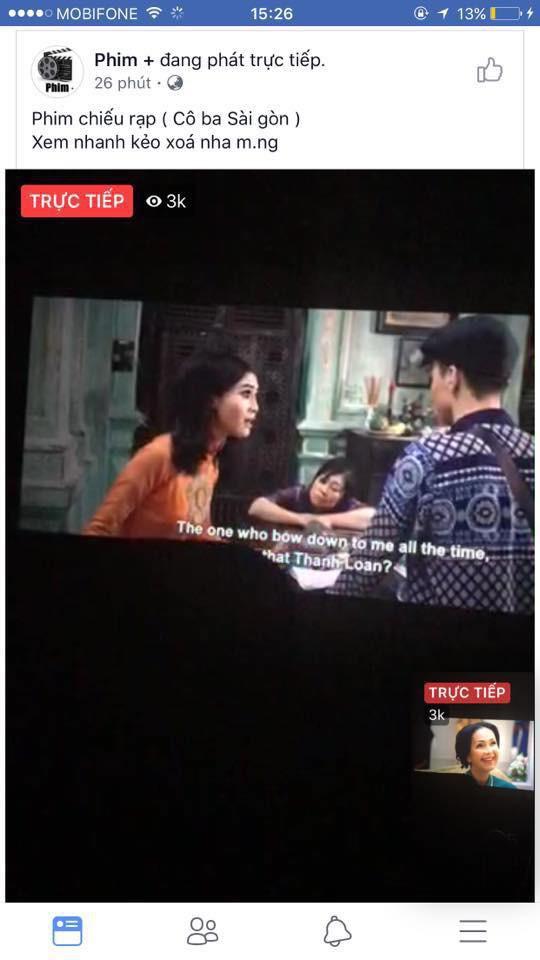 """Ngô Thanh Vân bức xúc vì phim """"Cô Ba Sài Gòn"""" bị livestream lén - Ảnh 1."""