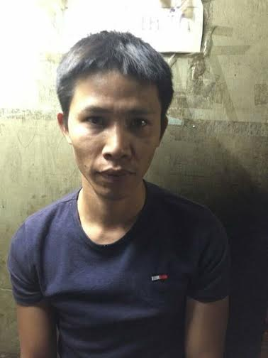 Nguyễn Thanh Hải lúc bị bắt quả tang