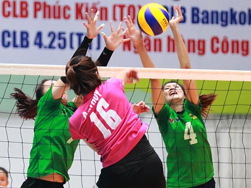 Đội Ngân hàng Công Thương và VTV Bình Điền Long An (phải), 2 ứng viên nặng ký cho chức vô địch