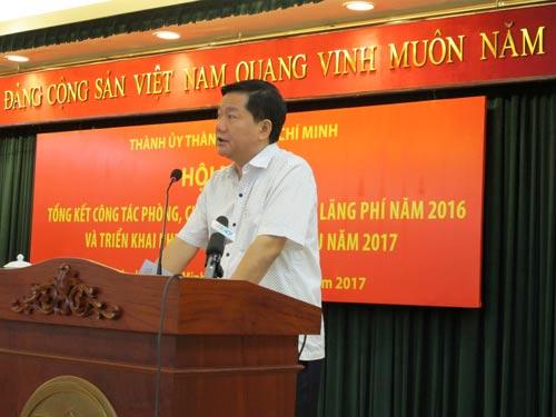 Bí thư Thành ủy TP HCM Đinh La Thăng phát biểu tại hội nghị
