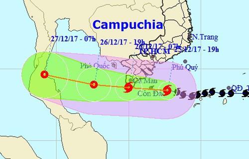Cơ quan khí tượng nói gì việc dự báo bão số 16 (bão Tembin)? - Ảnh 1.