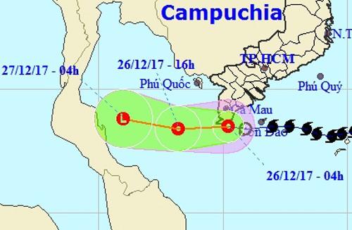Bão số 16 (bão Tembin) tan ở phía Nam Cà Mau - Ảnh 3.