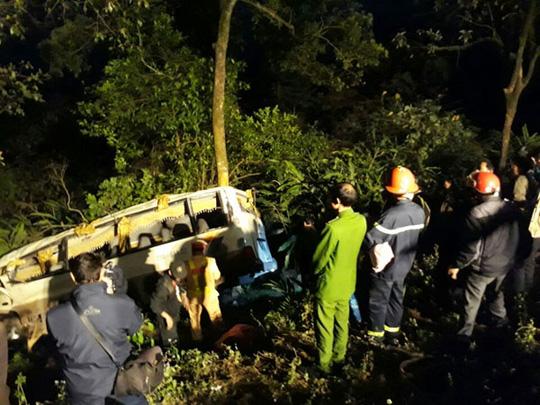 Hiện trường vụ tai nạn - Ảnh: Báo Lào Cai