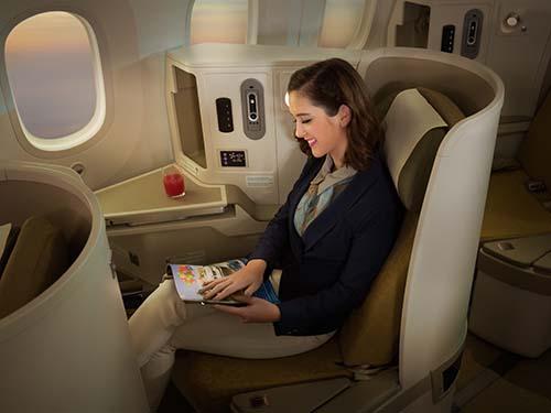 Dịch vụ thương gia của Vietnam Airlines ảnh: Ngọc Hằng