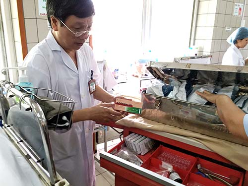 Thuốc cấp cứu sốc phản vệ phải luôn sẵn sàng tại các cơ sở y tế và phòng bệnh cấp cứu