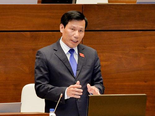 Bộ trưởng Nguyễn Ngọc Thiện trả lời chất vấn Quốc hội - Ảnh 1.