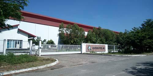 Công ty CP Thép Quatron tại huyện Tân Thành, tỉnh Bà Rịa - Vũng Tàu Ảnh: Ngọc Giang