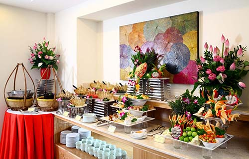 Buffet chay tại nhà hàng Cỏ NộiẢnh: Nhà hàng Cỏ Nội
