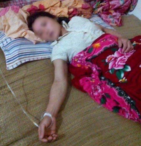 Chị Nguyễn Thị Lan đang được chăm sóc tại gia đình