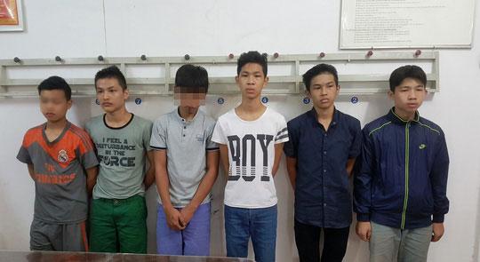 Nhóm thanh niên liên quan tại công an