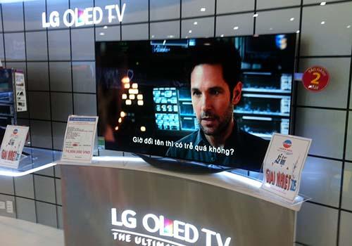 Tivi màn hình cong ít được khách hàng quan tâm