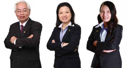 Từ trái qua phải: Ông Trần Phương Bình, bà Nguyễn Thị Ngọc Vân và bà Nguyễn Thị Kim Xuyến (ảnh internet)
