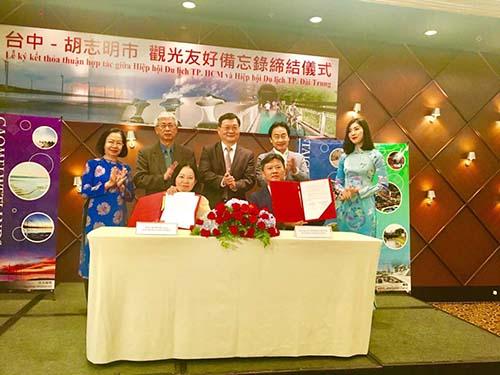 Ngành Du lịch TP HCM ký kết biên bản ghi nhớ cùng Cục Du lịch tỉnh Đài Trung