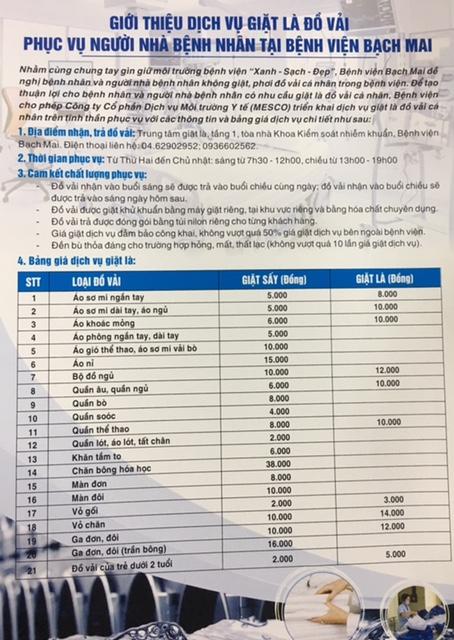 Bệnh viện nhận giặt đồ người nhà bệnh nhân với giá từ 2.000 đồng - Ảnh 2.