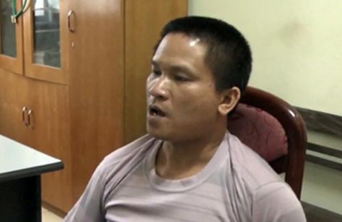 Nghi phạm Bùi Kim Hiền tại cơ quan công an - Ảnh: Dân Việt