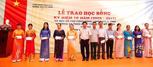 Học bổng Lawrence S.Ting: 10 năm đồng hành cùng Trường THCS An Thành, Tây Ninh - Ảnh 1.