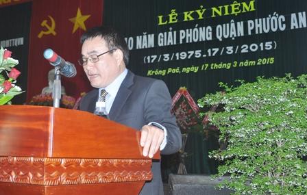 Ông Nguyễn Sỹ Kỷ thời kỳ còn làm Chủ tịch UBND huyện Krông Pắk. Nguồn: internet