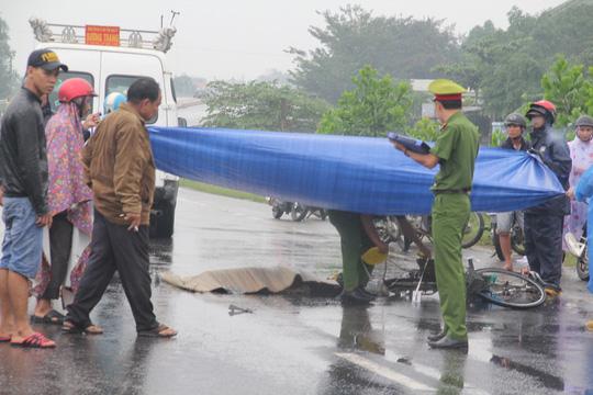 Hiện trường vụ tai nạn khiến ông Vân tử vong