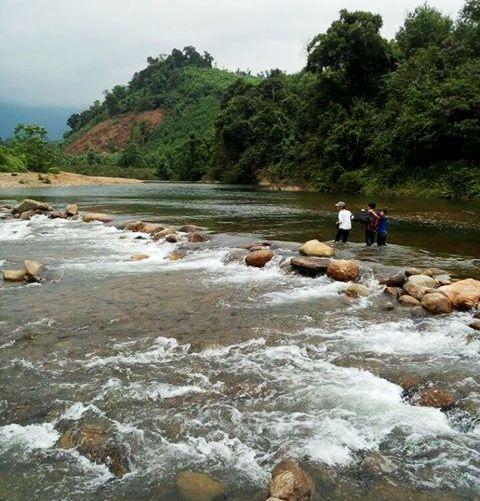 Con suối nơi chị Võ Thị Huế bị nước cuốn trôi dẫn tới tử vong