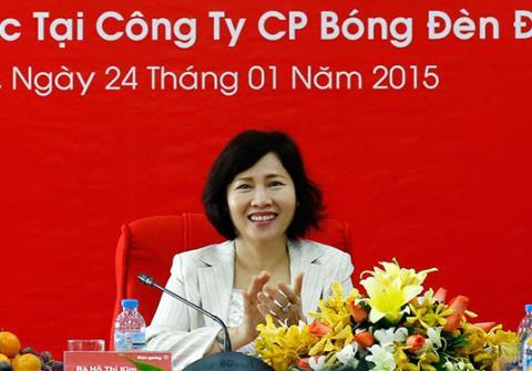 Thứ trưởng Công Thương Hồ Thị Kim Thoa sở hữu một khối tài sản lớn tại Công ty Cổ phần Bóng đèn Điện Quang