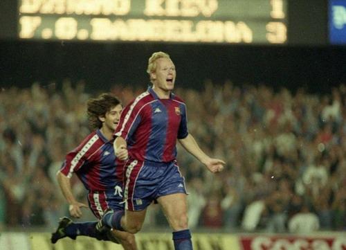 Ronald Koeman ghi bàn trước Kiev