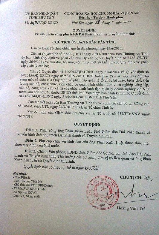 Đài PT-TH Phú Yên có người phụ trách mới - Ảnh 1.