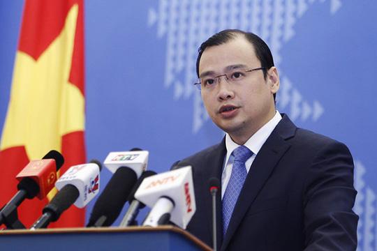 Người phát ngôn Bộ Ngoại giao Việt Nam Lê Hải Bình cho rằng duy trì hòa bình, ổn định, an ninh, an toàn hàng hải và hàng không ở khu vực là mục tiêu chung cũng là lợi ích chung
