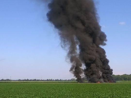 Mỹ: Rơi máy bay quân sự, 16 người thiệt mạng - Ảnh 1.