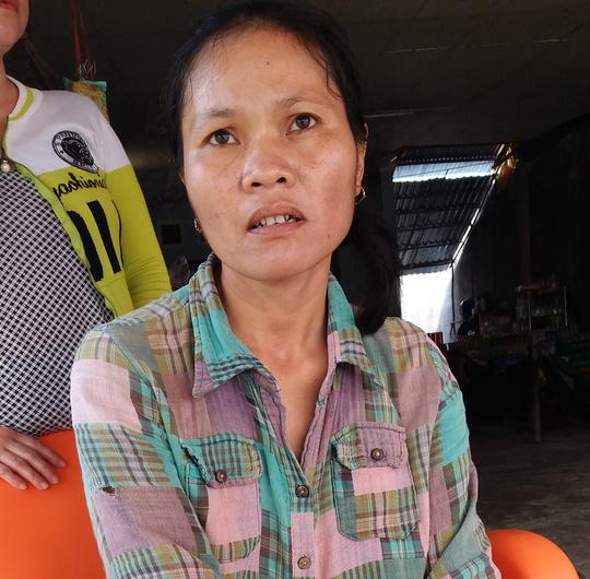 Chị Sơn Thị Kịnh đau buồn trước cái chết của con gái