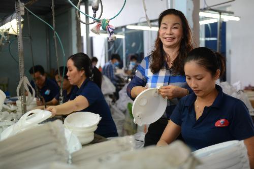 Bà Minh hiện sở hữu 2 nhà máy sản xuất hàng điện gia dụng cho doanh thu mỗi năm trên 800 tỷ đồng.