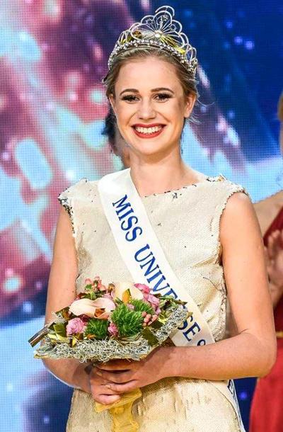 Cận cảnh cô gái Úc đăng quang Hoa hậu Slovenia - Ảnh 1.