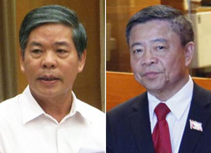 Cựu Bộ trưởng Nguyễn Minh Quang (trái) và ông Võ Kim Cự