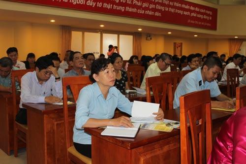 Học viên tham dự buổi tập huấn