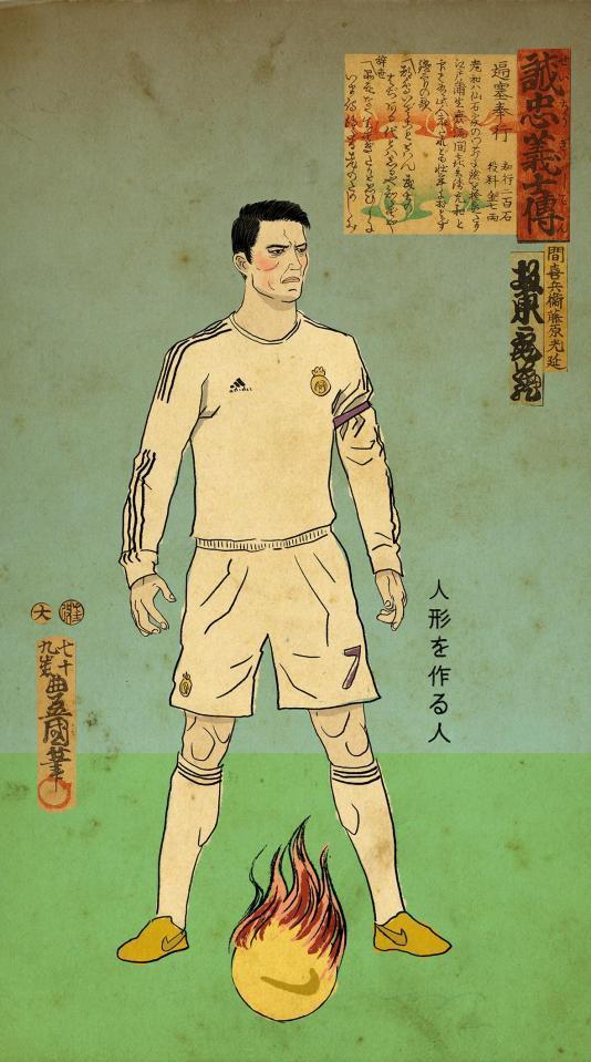 Messi, Ronaldo, Ibra hóa chiến binh samurai - Ảnh 1.