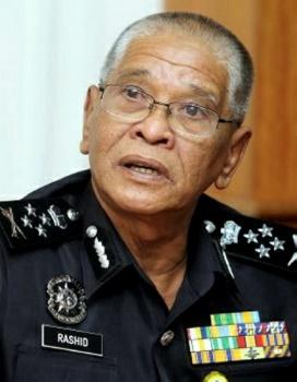 Phó Tổng thanh tra Cảnh sát Tan Sri Noor Rashid Ibrahim. Ảnh: Sun Daily