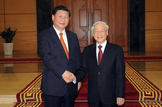 Tổng Bí thư Nguyễn Phú Trọng và Tổng Bí thư, Chủ tịch Trung Quốc Tập Cận Bình trong chuyến thăm Việt Nam tháng 11-2015