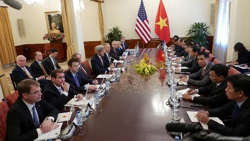 Ngoại trưởng Kerry hội đàm với Thứ trưởng Bùi Thanh Sơn