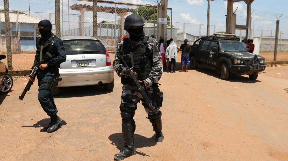 Cảnh sát Brazil trấn áp tội phạm ma túy ở Boa Vista. Ảnh minh họa: Reuters