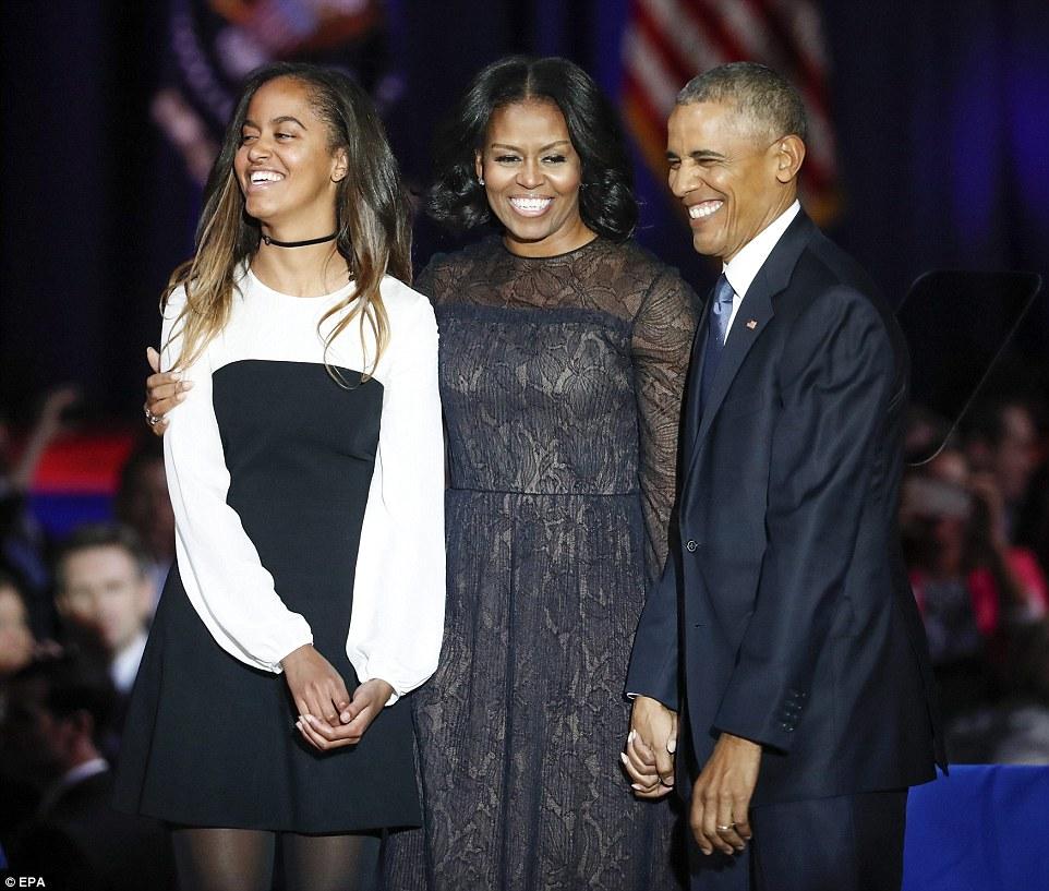 Tại lễ chia tay của ông Obama tối 10-1 vừa qua. Ảnh: EPA