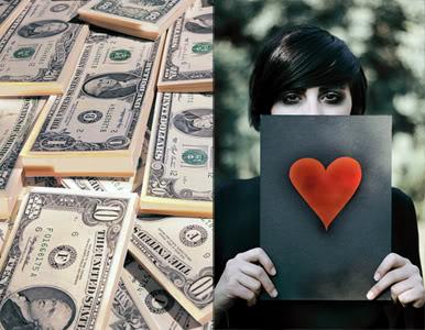 Phụ nữ thường phủ nhận giá trị của đồng tiền khi yêu
