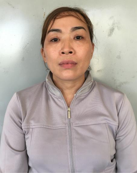 Trần Thị Hồng tại cơ quan điều tra.