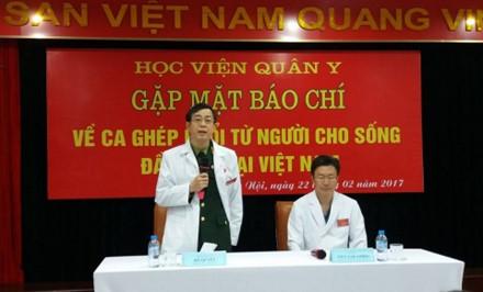 Thiếu tướng, GS.TS Đỗ Quyết – Giám đốc Học viện Quân y phát biểu tại buổi họp báo