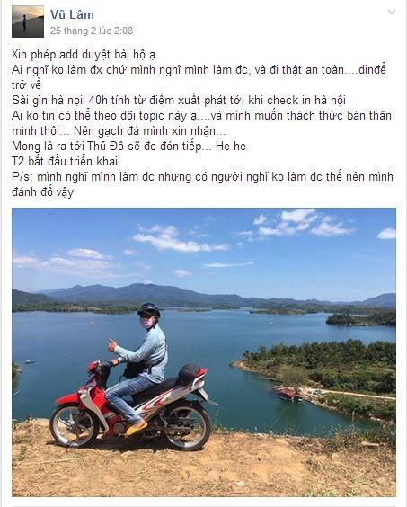 Hai chàng trai chạy xe từ TP.HCM ra Hà Nội trong 28 tiếng