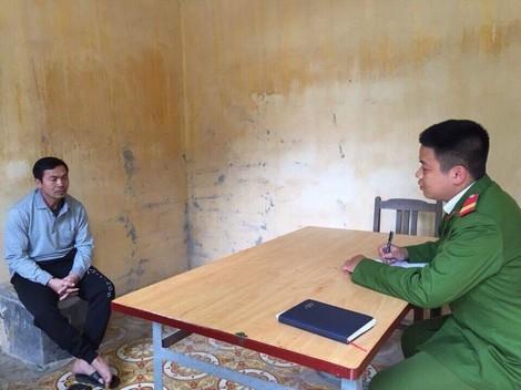 Đối tượng Phạm Văn Trà tại cơ quan điều tra.