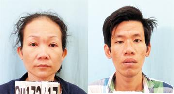 Hai đối tượng Lưu Thị Kim Yến và Nguyễn Minh Tân.