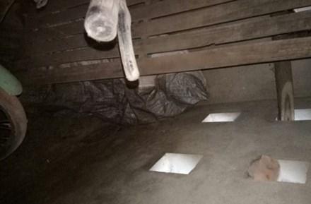 Thi thể bà Thịnh được phát hiện giấu trong bao tải trong góc chuồng lợn.