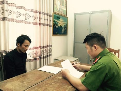 Lấy lời khai đối tượng Ngô Thanh Quang.